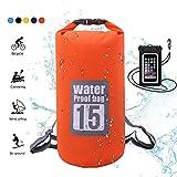 WIN.MAX Wasserdichte Wasserdichter Packsack mit Handybeutel,...