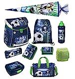Familando Fußball Schulranzen-Set Scooli Campus FIT 10tlg. mit...