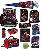 Familando Spiderman Schulranzen-Set 17tlg. mit Federmappe...