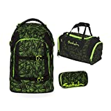 satch pack Green Bermuda 3er Set Schulrucksack, Sporttasche &...
