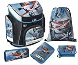 Scooli Schulranzen Set Campus Plus Disney Planes 5 Teilig 18...