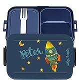 wolga-kreativ Brotdose Lunchbox Bento Box Kinder mit Namen Mepal...