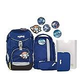 Ergobag Pack BlaulichtBär, ergonomischer Schulrucksack, Set...