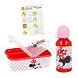 Minnie Mouse Lunch-Set Trinkflasche + Brotdose mit Yuhu Bande...