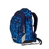 satch Match, Blue Crush ergonomischer Schulrucksack, erweiterbar...