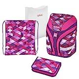 Herlitz 50020362 Schulranzen Motion Plus Pink Cubes, 1 Stück