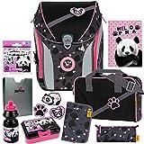 PINK Panda - DerDieDas ErgoFlex MAX Buttons Schulranzen-Set 9tlg....