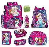 Familando Frozen Mädchen Schulranzen-Set 8-TLG. Disney Die...