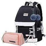 Bevalsa Schulrucksack mit Federmäppchen Schultaschen-Set für...