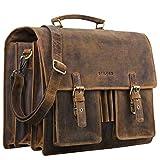 STILORD 'Anton' Aktentasche Leder XL Vintage Lehrertasche mit...