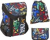 LEGO Bags Schulranzen Set EASY, 3 teilig, Ranzen nur 790 g,...