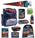 Familando Disney Cars Schulranzen-Set 10tlg. mit Regenschutz,...
