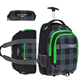3 Teile Set: ELEPHANT Trolley Hero Signature Trolleyrucksack +...