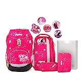 Ergobag Pack CinBärella - Pink, ergonomischer Schulrucksack, Set...