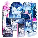 Einhorn Unicorn Pegasus Pferd Pony Horse 9 Teile Set Schulranzen...