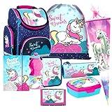 Einhorn Unicorn Pferd Pony Horse 9 Teile Set Schulranzen...