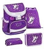 Belmil ergonomischer Schulranzen Set 4 -teilig für Mädchen 1, 2...