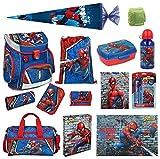 Familando Marvel Spiderman Schulranzen-Set 18tlg. Scooli Campus...