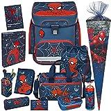 Spiderman - SCOOLI Undercover EasyFit Schulranzen-Set 13tlg. mit...